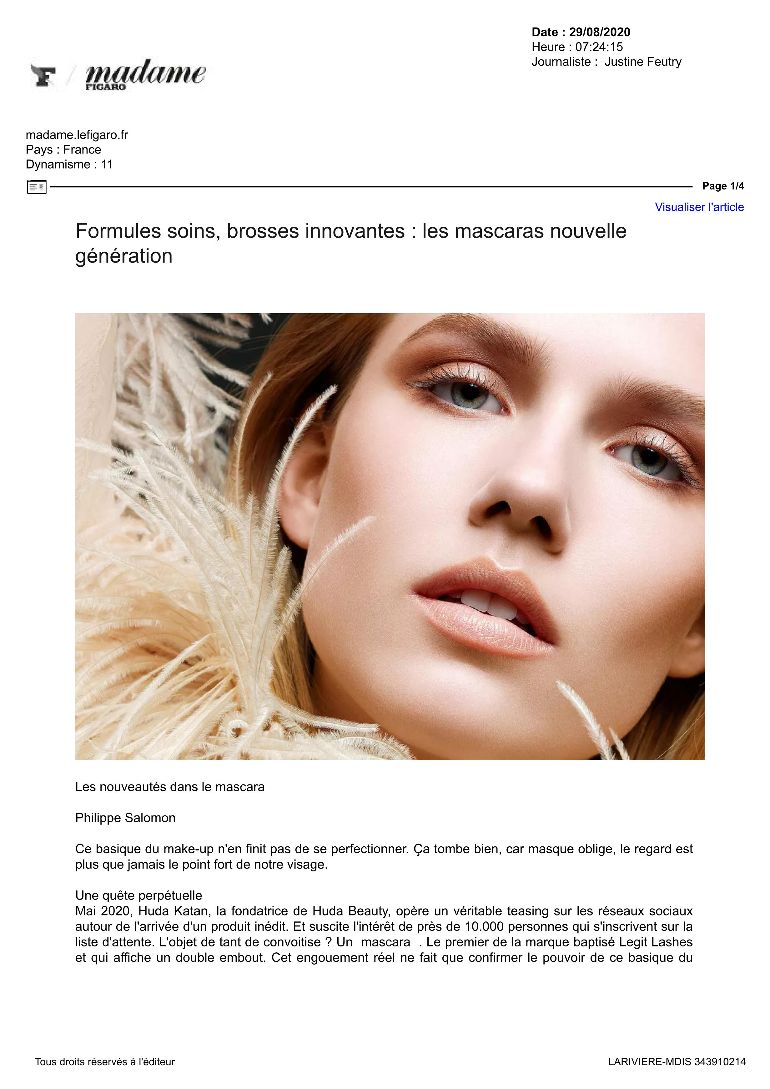 Mme Figaro.fr - Aout 2020 - Revitalash® Cosmetics
